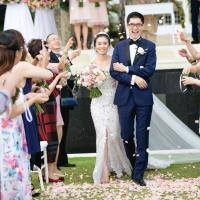 Lucy and Kelvin married in Bali