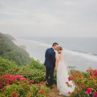 Rebecca and Christopher married in Bali