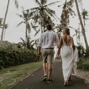 Alice and Bradley married in Bali