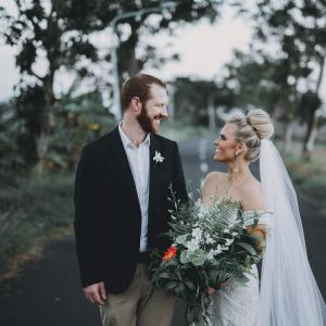 Jayde and Edward married in Bali